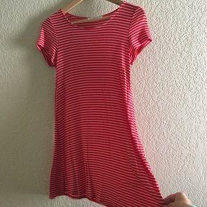 Striped mini dress/tunic